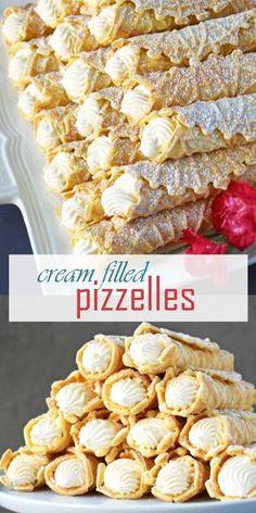Fancy Desserts, Italian Desserts, Just Desserts, Dessert Recipes, Dessert Healthy, Italian Cookies, Italian Christmas Cookies, Dinner Healthy, Dinner Recipes