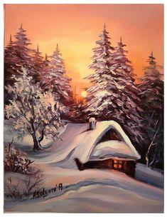 Fantasy Landscape, Winter Landscape, Landscape Art, Landscape Photography, Dream Pictures, Winter Pictures, Christmas Pictures, Winter Painting, Winter Art