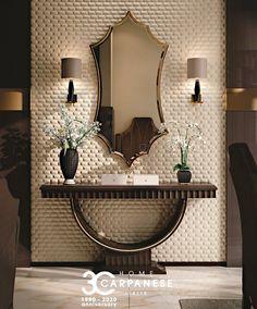 Foyer Design, Home Room Design, Home Interior Design, Living Room Designs, Living Room Decor, Design Bedroom, Home Decor Furniture, Luxury Furniture, Furniture Ideas