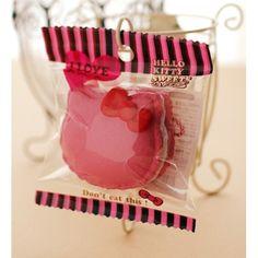 *Rare* Hello Kitty Cafe Pink Macaron Squishy Mascot