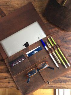 Wall iPad case in bridle leather iPad by LUSCIOUSLEATHERNYC