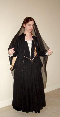 Black Venetian Gown New photo5 by CenturiesSewing.deviantart.com on @deviantART