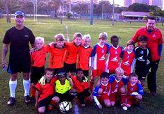 my junior team...in orange...TOTI UTD..UNDER TEN..
