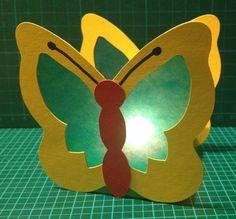Schmetterling - Laterne aus Tonkarton, Fotokarton