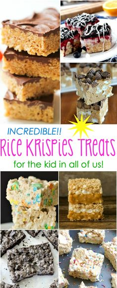 The ultimate list of more than 10 Incredible Rice Krispies Treats Recipes for the kid in all of us! These no-bake desserts are a MUST at all of your summer parties, cookouts, and picnics!