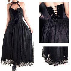 Black Elegant  Gothic Dress