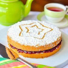 Classic Victoria Sandwich Cake - a teatime favourite! This classic British cake is a bake sale icon and much loved nationwide as the perfect teatime treat. Rock Recipes, Tea Recipes, Cake Recipes, Dessert Recipes, Desserts, Recipies, Fruit Recipes, Dessert Ideas, Yummy Recipes