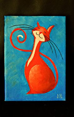 Original Cat Painting for Sale  Fantasy Cats  by NaturelandsAndCo, $25.00