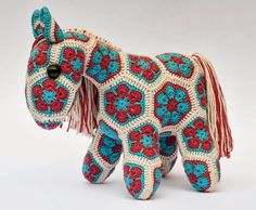 Heidi bear African horse...link to site on revelry for pattern