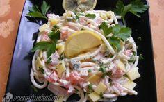Sonkás makarónis saláta Hungarian Recipes, Hungarian Food, Salad Recipes, Potato Salad, Cabbage, Sandwiches, Recipies, Food And Drink, Mexican