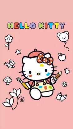 Hello Kitty My Melody, Hello Kitty Cake, Hello Kitty Backgrounds, Hello Kitty Wallpaper, Sanrio Wallpaper, Cartoon Wallpaper, Hello Kitty Pictures, Friends Wallpaper, Kawaii Stickers
