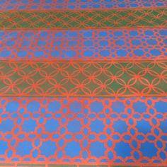 Azulejos em Terracota - acrilico sobre tela 2014 - 90x170 -  acrylic on canvas  - Melina Ollandezos