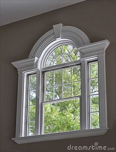 Accentuate your home & increase the functionality of your windows with these 4 window trim styles. House Window Design, Window Grill Design, Door Design, House Design, Arched Windows, Windows And Doors, Big Windows, French Windows, French Doors