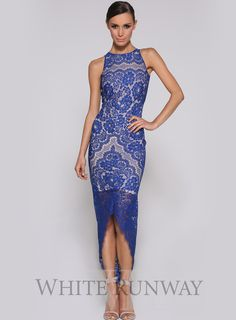 Beautiful Summer dresses blog: Blue lace dress designer