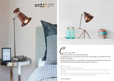 The main role of this magazine focuses on three important actions: to elucidate, clarify and inform, making as far as possible all relevant information about the lighting sector. Magazine, Table Lamps, Lighting, Portuguese, Brass, Design, Home Decor, Collection, Night Lamps