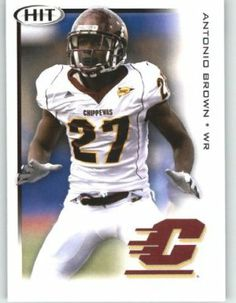 Antonio Brown WR / Central Michigan (RC - Rookie Card) FIRST EVER NFL Trading Card - 2010 Sage HIT Football Card Shipped in Protective Screwdown Case by Sage. $3.99. This is just one of the 1000s of great single sports cards we are offer on here ...; Buy More Singe Cards & Save on Shipping!; 2010 Sage HIT Football Card - Mint Condition - Shipped in Protective Screwdown Case; FIRST EVER NFL Football Trading Card!!!; NOTE: Stock Image Used - Contact Seller for More I...