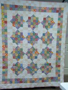 Split Nine Patch Quilt or Arkansas Crossroads 9 Patch Quilt, Quilt Blocks, Quilting Tutorials, Quilting Projects, Quilting Designs, Quilting Ideas, Sewing Projects, Charm Pack Quilts, Charm Quilt
