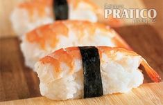 Nigiri aux crevettes - Les recettes de Caty Nigiri Sushi, Food Inspiration, Food And Drink, Ethnic Recipes, Seafood, Rice, Fish, Dish, Food