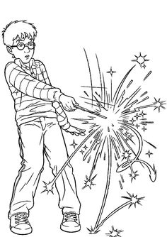 harry using magic wand coloring pages harry potter coloring pages kidsdrawing free coloring - Coloring Printables For Kids