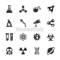 Science Silhouette Icons | Vector | StockerPark