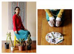 Cárdigan Peyote ₪ R I T U A L ₪ Towanda! Otoño/Invierno 2015  #knitwear #origami #cardigan