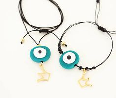 Handmade greek jewelry and crochet accessories! Evil Eye Jewelry, Evil Eye Necklace, Evil Eye Bracelet, Polymer Clay Crafts, Polymer Clay Jewelry, Greek Jewelry, Unique Jewelry, Greek Evil Eye, Crochet Accessories