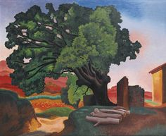 Auguste Herbin (French, 1882-1960), Le grand chêne [The great oak], 1923. Oil on canvas, 81.2 x 100.2 cm.