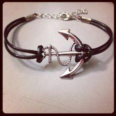 READY TO SHIP Anchor Bracelet by KristinesKeepsakes on Etsy, $14.00