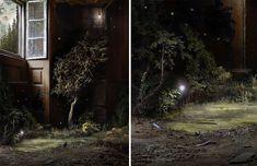 Découvrez les superbes photomontages de cette artiste qui mélange forêts et espaces intérieurs avec une technique vieille de plus de cent ans !