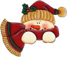 Resultat d'imatges de navidad dibujos a color muñecos de nieve