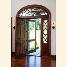 Do in painted finish Custom Exterior Doors | NY | New York | mahogany | Fine Homebuilding