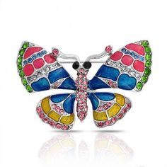 Crystal brooch pins are a great way to add sparkle to any outfit. Shop our selection of costume jewelry brooches & pins for best prices & effortless shopping experience. See our crystal brooches now! Butterfly Pin, Butterfly Jewelry, Pink Jewelry, Crystal Jewelry, Monarch Butterfly, Enamel Jewelry, Pandora Jewelry, Angel Wings Jewelry, Safety Pin Jewelry