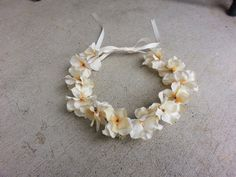 Ivory Floral Headband/ Flower Crown. Coachella or by DevineBlooms. Great for flower girls in a wedding.