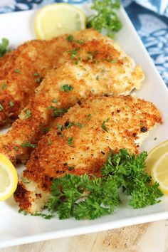 Extra crispy, tender and juicy, this Easy Parmesan Crusted Chicken Cutlet recipe is quick and simple. Coated in a mixture of herbs, spices and lots of parmesan cheese, this chicken dinner is a family favorite that can be adapted sooo many different ways! When I was teaching myself how to cook in my early 20's …