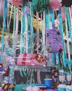 Candy bar for our #aliceinwonderland  party ⚗ Кенди бар для маленькой Алисы