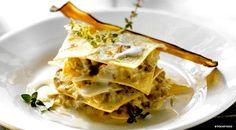 Aubergine, Gorgonzola and Thyme Lasagne