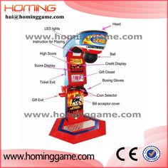 Newest Punch Bag Boxing Amusement Game Machine / Boxing Game Machine / boxing arcade machines hui@hominggame.com Size:1400×1300×2150MM Net weight:155KGS Power:180W Voltage:220V Simple packing size:600 X 1300 X 2250MM Wooden frame packing size:640 X 1320 X 2260MM Type:boxing game machine,ultimate big punch game machine, Boxing Games, Boxing Game Machine, China boxing game machine, punching game machine, used punching bag arcade machine for sale,Coin Operated Arcade Machines