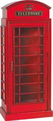 "AFD Telephone Booth Cabinet by Whimsical Treasures. $999.00. Great conversation piece and sure to leave a lasting impression. Exclusive style will enhance your design area. Featuring an old-style telephone booth with glass shelves and door. Red cabinet with light and glass display shelves. 30""L x 17 1/2""D x 73""H. The Telephone Booth Cabinet with Light and Glass Display Shelves brings an exclusive style that will enhance your design area, featuring an old-style telephone booth w..."
