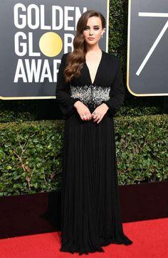 Katherine Langford – Golden Globe Awards 2018 in Beverly Hills - 01