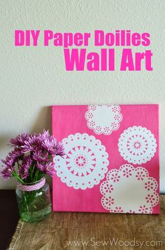 Paper Doilies Wall Art - great home décor idea  uses Martha Stewart Crafts Decoupage - click thru for the full #DIY tutorial