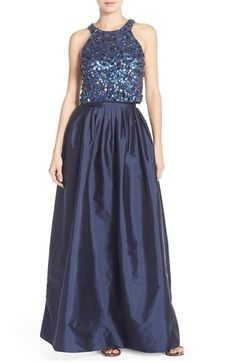 Adrianna Papell Embellished Two-Piece Ballgown (Regular & Petite) available at #Nordstrom