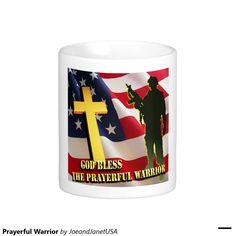 Prayerful Warrior Classic White Coffee Mug