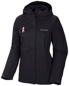 Helping fund the National Breast Cancer Foundation's key prevention programs, this sleek rain jacket is waterproof, breathable, fully seam-sealed, and so light it packs into its own pocket. Wear the pink with pride.