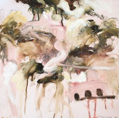 "Saatchi Online Artist: Philip Maltman; Oil, 2011, Painting ""Pink Farm & Mausoleum 1"""