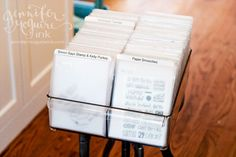 organize your cling and clear stamps // craft room inspiration