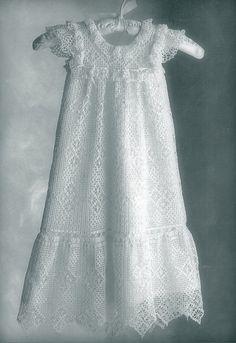 SALE Crochet PATTERN Lacy Vintage Christening Gown by carolrosa