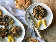 Siete recetas con alcachofas, fáciles y deliciosas, para picotear este finde Tempura, Sprouts, Tapas, Healthy Eating, Favorite Recipes, Beef, Vegetables, Food, Natural