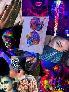 UV Avantgarde Glow in the dark Moodboard