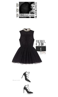 """""""Every time he knocks, I can't help but let him in"""" by blonde-bedu ❤ liked on Polyvore featuring Yves Saint Laurent, women's clothing, women, female, woman, misses and juniors"""