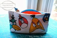 Boy, Oh Boy, Oh Boy!: Handmade Gifts For Boys: Angry Birds Zipper Pouch